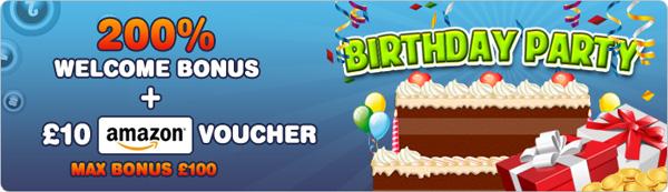 BingoCams Birthday Amazon Voucher